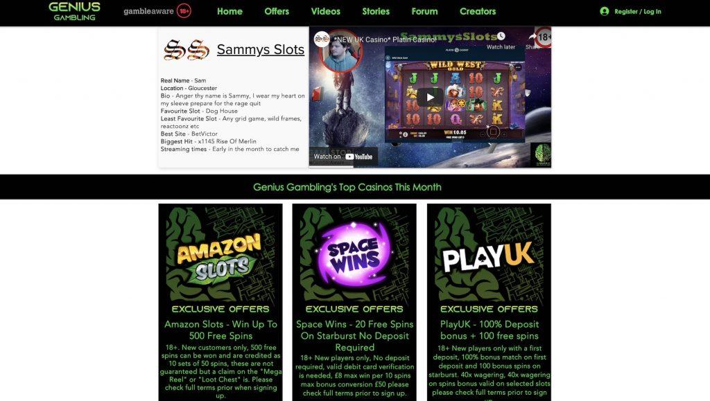 Sammys Slots Website
